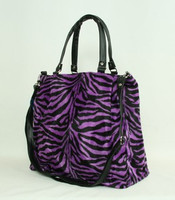 Zebra purple fashion fluffy Bag