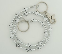 Dice M white WC 4 wallet chain
