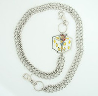 Lady dice white WC 4 wallet chain