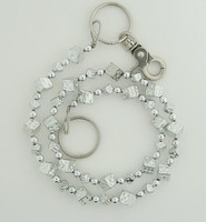 Dice SM silver WC 4 wallet chain