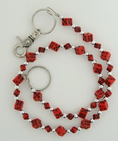 Dice SM red WC 4 wallet chain