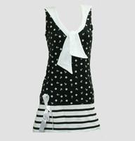 Front - Dress anchors stripe black sailor dress