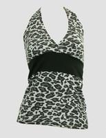 Front - BA leopard grey band top pin up