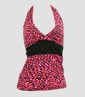 Front - BA leopard pink band top pin up