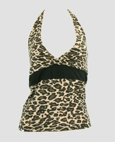 Front - BA leopard brown band top pin up