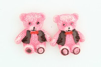 C bear jacket pink colorful stud