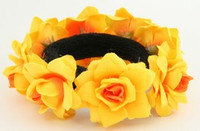 F yellow flower universal hair tie and bracelet