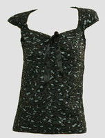 Front - B leopard grey classic top pin up