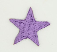 S star purple small patch