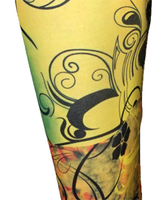 S yellow butterfly spandex legging