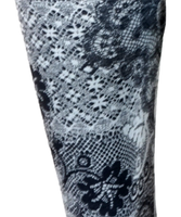 S gray flower spandex legging