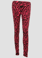 F zebra pink fashion legging