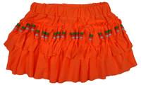 Mini skirt with beads orange neon