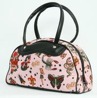 Flash pink medium bowling bag