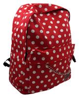 Dot big red white mix rucksack