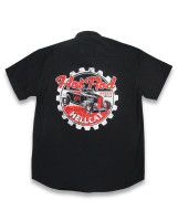 Real hotrod style print on the back.
