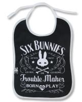 Trouble maker six bunnies bib