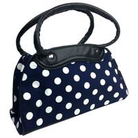 Big white dots on blue - bowling bag
