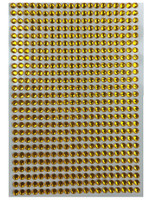 Crystal stickers - gold set