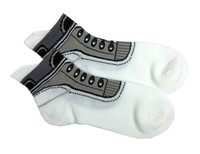 Shoes socks black and white