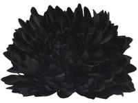 Black opium single hair flower clips