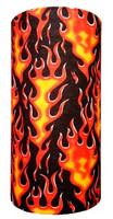 Hot hotrod flames on black