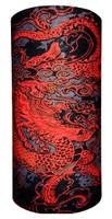 Oriental red dragon on black