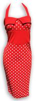 Dress waist big dots on red fashion dress