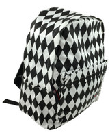Diamond game check black-white check rucksack