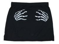 Death grip black cute mini skirt