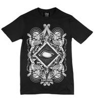 Ivory on black la mort t-shirt