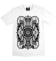 Four skulls - black on white la mort t-shirt