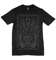 Charcoal on black la mort t-shirt