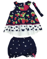 Baby kid set - strawberry butterfly