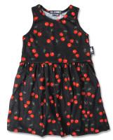 Cherries art black six bunnies dress