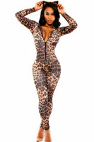 Front - Fashion kitten club catsuit