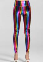 Front - Empire waist fluorescent rainbow