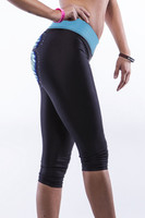 Right - Butterfly print sports gym running yoga pants