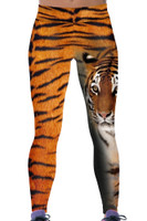 Front - Enormous tiger print yoga