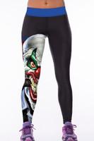 Front - 3D print high waist womens sport yoga pants