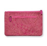 Pink Paisley Clutch in Medium