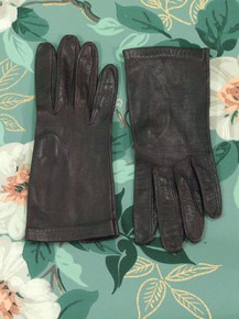 Deep espresso kid leather gloves