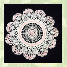 Cotton crocheted doily