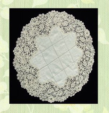 Lace and linen doily
