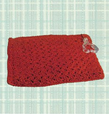 1940s Red rayon cord clutch