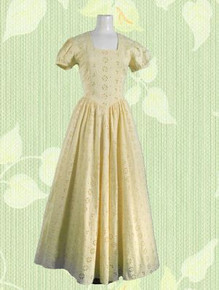 Cotton twill eyelet gown