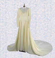 Elegant late 40s wedding gown