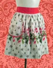 Candy cane print Christmas apron