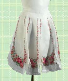 Fancy organdy 1950s apron