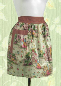 Country toile apron